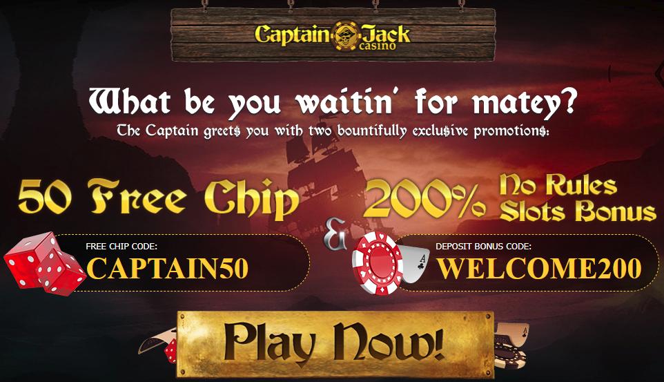Captain Jack Casino No Deposit Bonus Codes